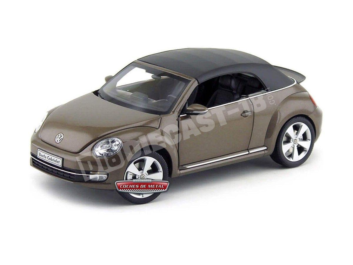 Volkswagen beetle convertible toffeebraun met Kyosho escala 1:18 OVP nuevo