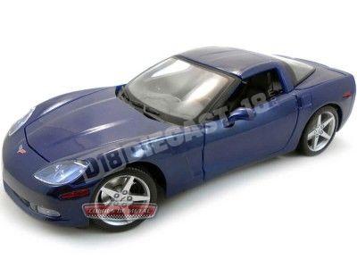 2005 Chevrolet Corvette C6 Azul 1:18 Maisto 31117 Cochesdemetal.es