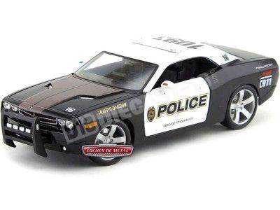 2006 Dodge Challenger Hemi 6.1 Concept Police Blanco-Negro 1:18 Maisto 31365 Cochesdemetal.es