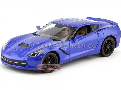2014 Chevrolet Corvette Stingray Z51 Azul 1:18 Maisto 31677 Cochesdemetal.es