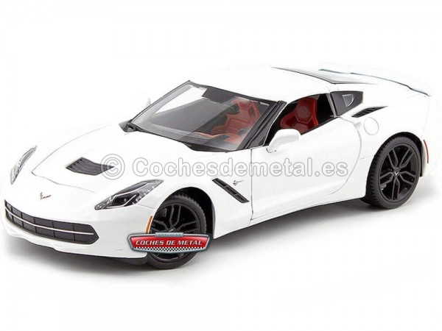 2014 Chevrolet Corvette Stingray Z51 Blanco 1:18 Maisto 31677 Cochesdemetal.es