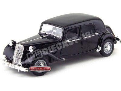1952 Citroen 15CV 6 CYL Negro Metalizado 1:18 Maisto 31821 Cochesdemetal.es
