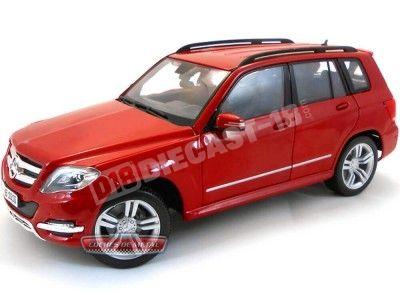 2013 Mercedes-Benz GLK 350 4MATIC X166 Rojo 1:18 Maisto 36200 Cochesdemetal.es