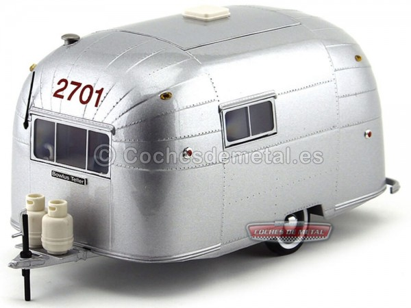 1956 Airstream Trailer Caravel 16 Aluminium 1:18 Motor City 88101 Cochesdemetal.es