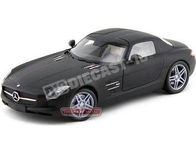 2010 Mercedes-Benz SLS AMG Gullwing Matt Black 1:18 Minichamps 100039027 Cochesdemetal.es