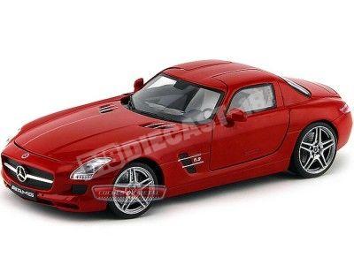 2010 Mercedes-Benz SLS AMG Gullwing Rojo 1:18 Mondo Motors 50106 Cochesdemetal.es