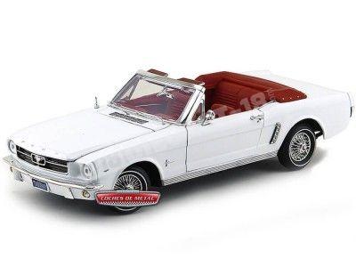 1964 Ford Mustang 1-2 Convertible Blanco 1:18 Motor Max 73145 Cochesdemetal.es