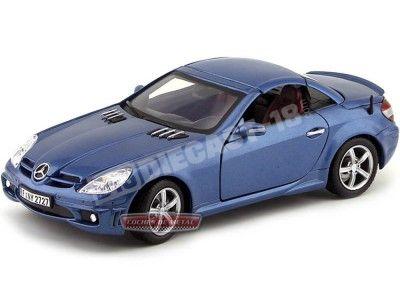 2004 Mercedes-Benz SLK 55 AMG Convertible Azul Oscuro 1:18 Motor Max 73162 Cochesdemetal.es
