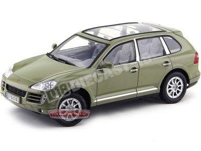2008 Porsche Cayenne 3.6 V6 Verde Oliva 1:18 Motor Max 73178 Cochesdemetal.es