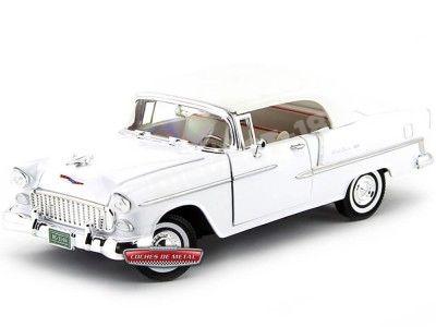 1955 Chevrolet Bel Air Convertible Blanco 1:18 Motor Max 73184 Cochesdemetal.es