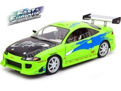 1995 Mitsubishi Eclipse Brian Fast & Furious Verde 1:18 Greenlight 19039 Cochesdemetal.es