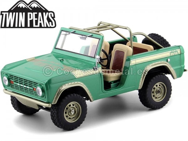 "1976 Ford Bronco ""Twin Peaks"" Green 1:18 Greenlight 19034 Cochesdemetal.es"