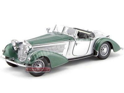 1939 Horch 855 Spezial Roadster Verde-Plata 1:18 Sun Star 2404 Cochesdemetal.es