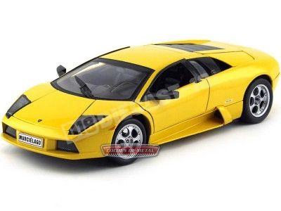 2001 Lamborghini Murcielago V12 6.2L Amarillo 1:18 Welly 12517 Cochesdemetal.es