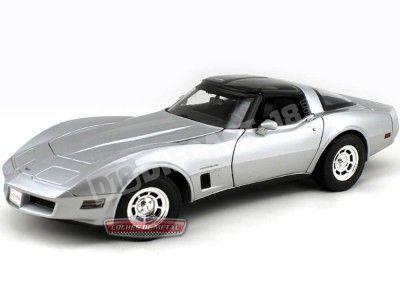 1982 Chevrolet Corvette Coupe Gris 1:18 Welly 12546 Cochesdemetal.es