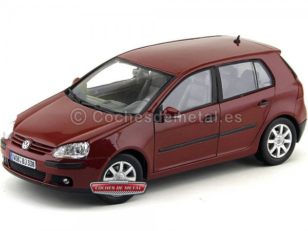 2005 Volkswagen Golf V Granate Metalizado 1:18 Welly 12548 Cochesdemetal.es