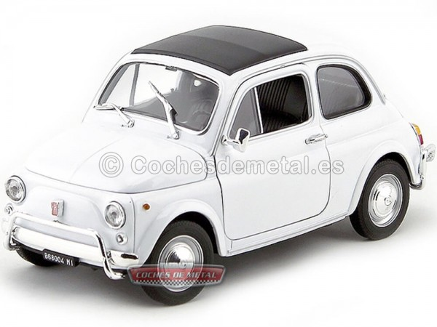 1957 Fiat Nuova 500 Blanco 1:18 Welly 18009 Cochesdemetal.es