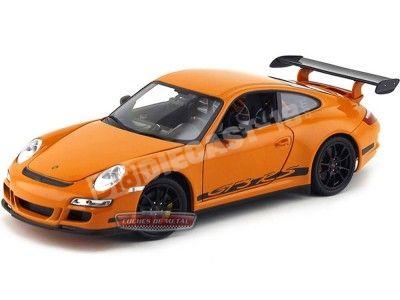 2006 Porsche 911 (997) GT3 RS Naranja 1:18 Welly 18015 Cochesdemetal.es
