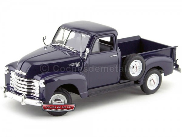 1953 Chevrolet 3100 Pick-Up Azul Marino 1:18 Welly 19836 Cochesdemetal.es