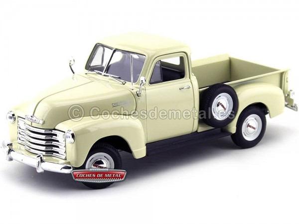 1953 Chevrolet 3100 Pick-Up Crema 1:18 Welly 19836 Cochesdemetal.es
