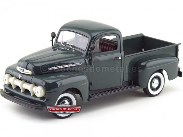 1951 Ford F-1 Pick Up Verde Metalizado 1:18 Welly 19847 Cochesdemetal.es