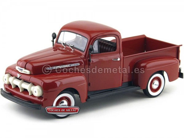 1951 Ford F-1 Pick Up Granate Metalizado 1:18 Welly 19847 Cochesdemetal.es