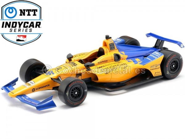 2019 Chevrolet IndyCar Series McLaren Racing 66 Fernando Alonso 1:18 Greenlight 11061 Cochesdemetal.es
