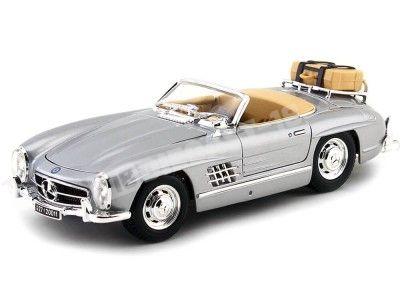 1957 Mercedes-Benz 300 SL W198 Touring Gris 1:18 Bburago 12049 Cochesdemetal.es