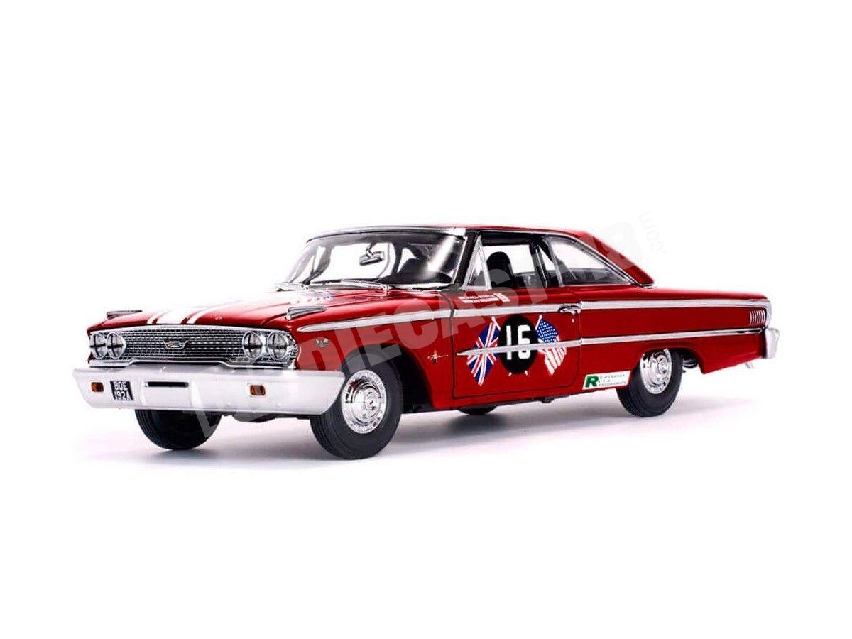 """1963 Ford Galaxie 500 XL Racing """"Goodwood Revival 2011"""" 1:18 Sun Star 1472 Cochesdemetal.es"""