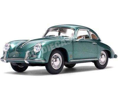 1957 Porsche 356A 1500 GS Carrera GT Coupe Green 1:18 Sun Star 1343 Cochesdemetal.es