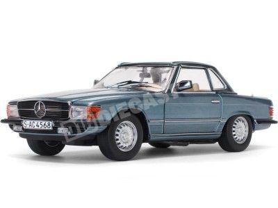 1977 Mercedes-Benz 350 SL W107 Hard Top Coupe Blue Grel 1:18 Sun Star 4666