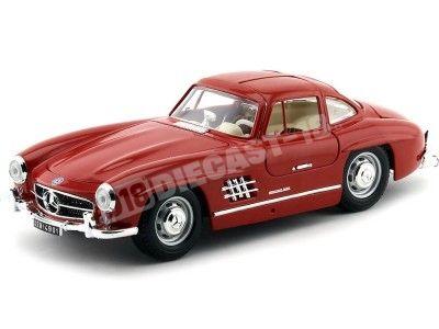 """1954 Mercedes-Benz 300 SL """"Alas de Gaviota"""" Rojo 1:18 Bburago 12047 Cochesdemetal.es"""