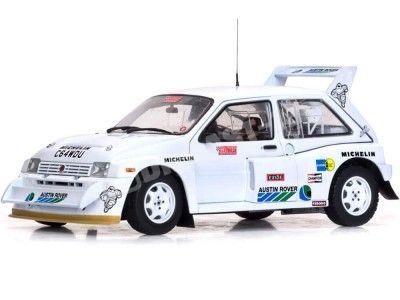 1986 MG Metro 6R4 Aryton Senna Test Car White 1:18 Sun Star 5538