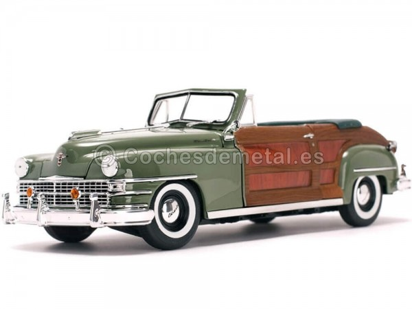1948 Chrysler Town And Country Woody Heather Green 1:18 Sun Star 6142