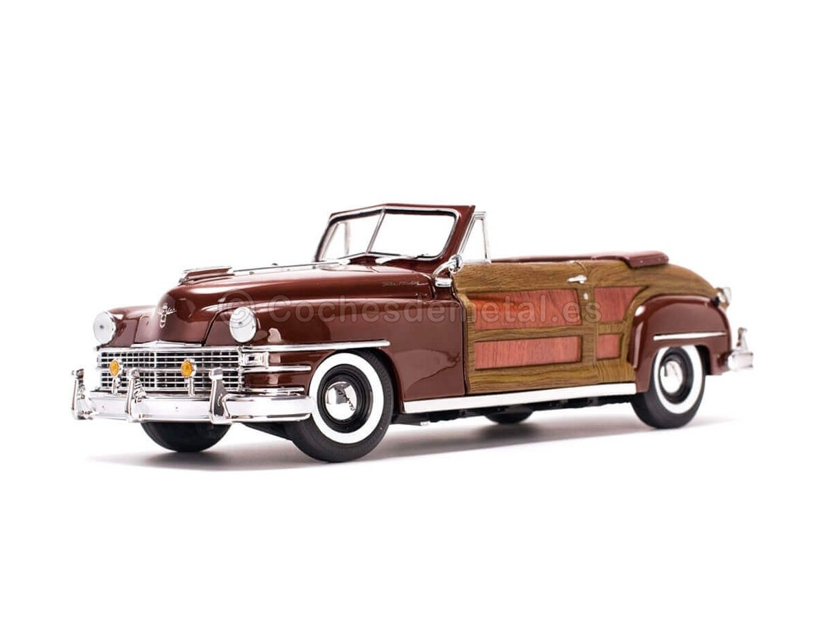 1948 Chrysler Town And Country Woody Costa Rica Brown 1:18 Sun Star 6143 Cochesdemetal.es