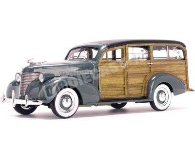 1939 Chevrolet Woody Surf Wagon Granville Gray 1:18 Sun Star 6177