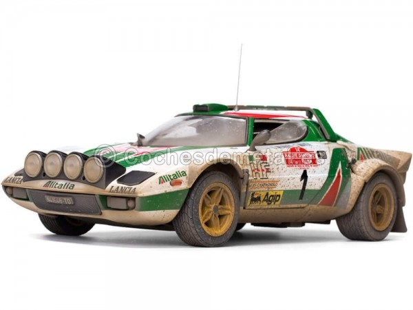 1976 Lancia Stratos HF Rally Sanremo Muddy Version 1:18 Sun Star 4628 Cochesdemetal.es