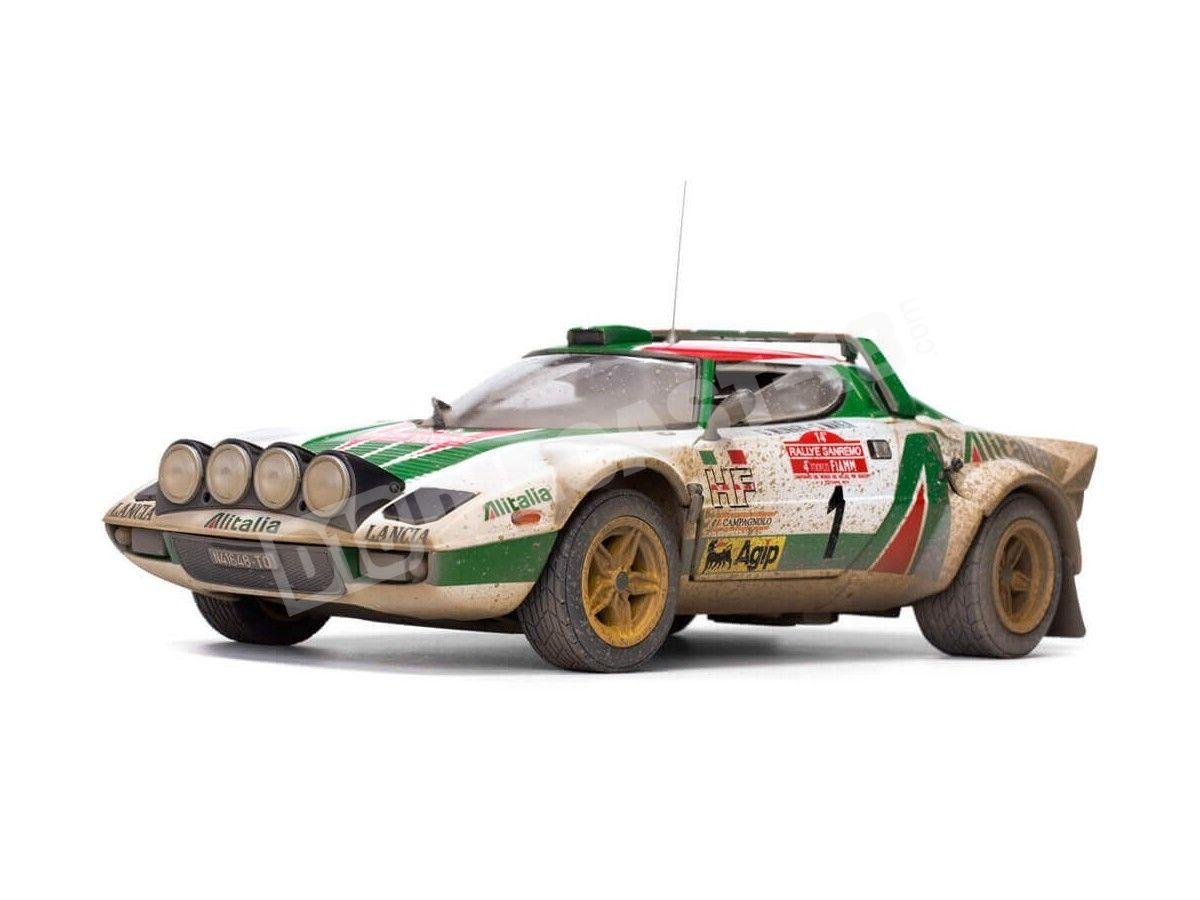 1976 Lancia Stratos HF Rally Sanremo Muddy Version 1:18 Sun Star 4628 Cochesdemetal.es