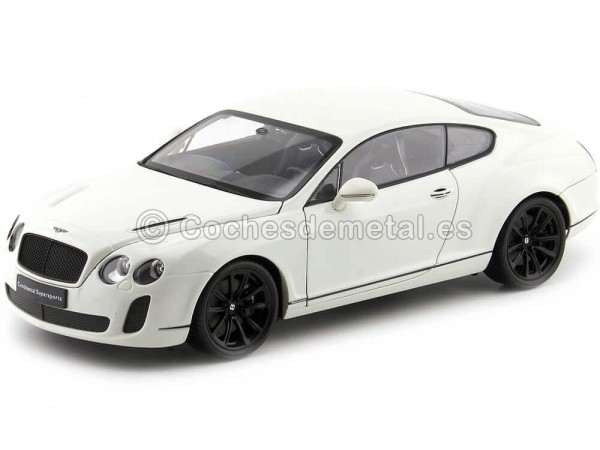 2010 Bentley Continental Supersport Coupe Blanco 1:18 Welly 18038 Cochesdemetal.es