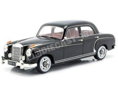 1956 Mercedes-Benz 220 S Limousine (W180 II) Negro 1:18 KK-Scale 180321 Cochesdemetal.es