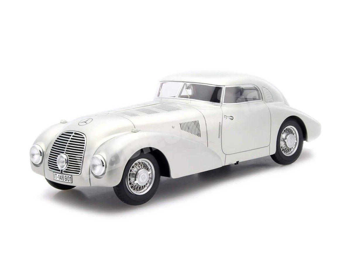 1938 Mercedes 540K (W29) Stromlinienwagen Silver 1:18 BoS-Models 387 Cochesdemetal.es
