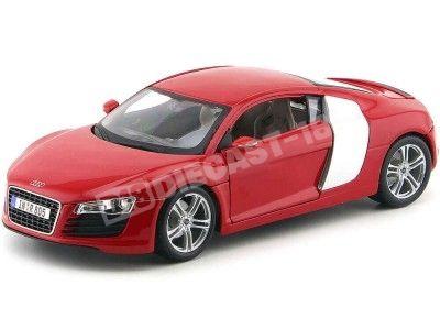 2008 Audi R8 Rojo Metalizado 1:18 Maisto 36143 Cochesdemetal.es