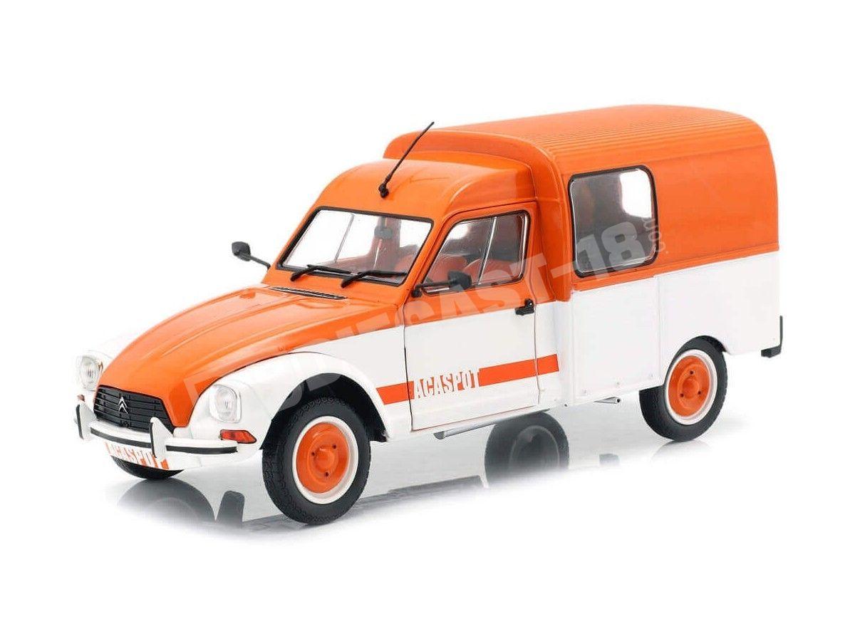 "1984 Citroen Acadiane ""Acaspot"" Blanco-Naranja 1:18 Solido S1800404 Cochesdemetal.es"