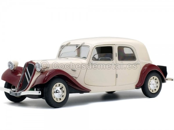 1937 Citroen Traction 11CV Berlina Beige 1:18 Solido S1800901 Cochesdemetal.es