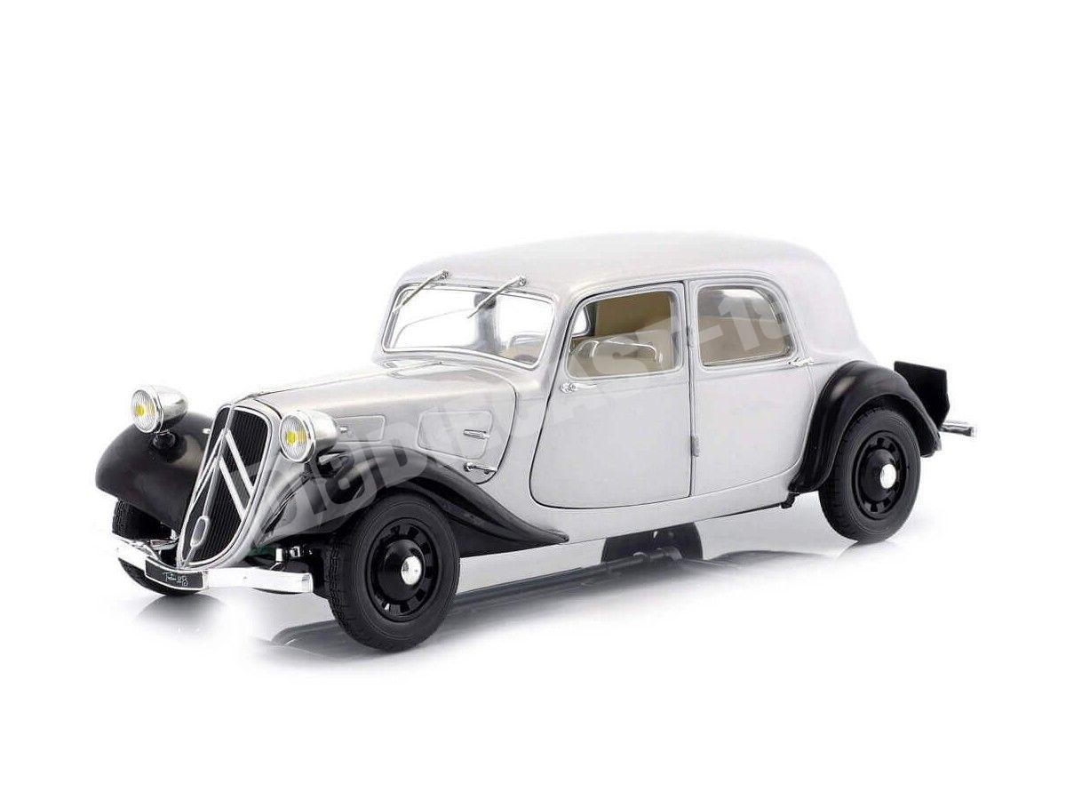 1937 Citroen Traction 11CV Berlina Silver 1:18 Solido S1800904 Cochesdemetal.es