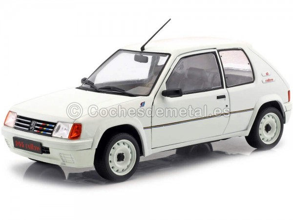1987 Peugeot 205 Rallye Phase 1 White 118 Solido S1801701 Cochesdemetal.es