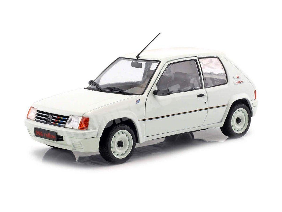 1987 Peugeot 205 Rallye Phase 1 White 1:18 Solido S1801701 Cochesdemetal.es