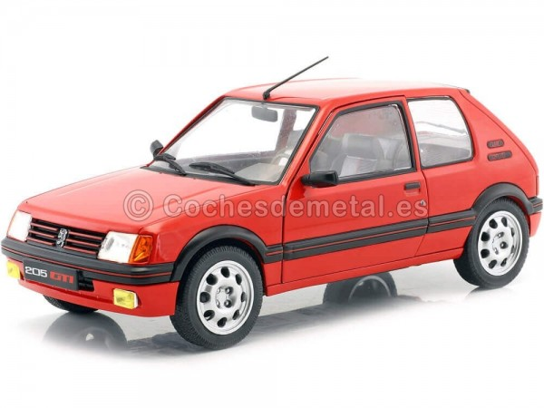 1985 Peugeot 205 GTI 1.9L Phase 1 Red 1:18 Solido S1801702 Cochesdemetal.es