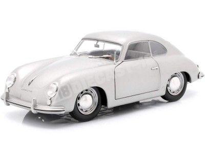 1953 Porsche 356 PRE-A Silver 1:18 Solido S1802802 Cochesdemetal.es
