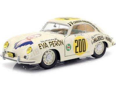 "1953 Porsche 356 PRE-A Carrera Panamericana ""Eva Perón"" 1:18 Solido S1802801 Cochesdemetal.es"